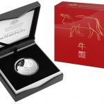 2021 Silver Proof Domed 1oz $5 Coin - Lunar Year of the Ox