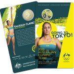 2020 UNC Coloured $1 Coin - Australian Olympic Team Tokyo 2020