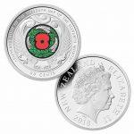 2018 New Zealand UNC Coloured 50c Coin - Armistice