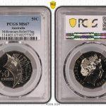 2000 UNC 50c Millennium Flag Relief - PCGS MS67